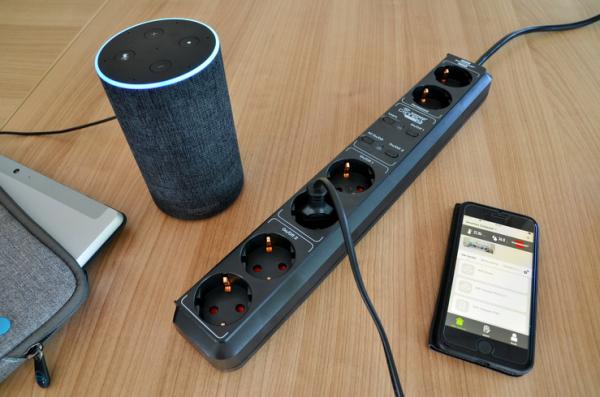 Prelungitor Smart Brennenstuhl Connect Eco-Line WiFi H05VV-F3G1 ,1,5m , 5prize, Alexa, Google [4]