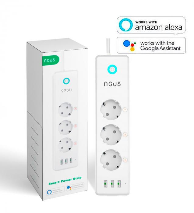 Prelungitor Smart Nous A5, Wifi, 15W. 3.1A 1