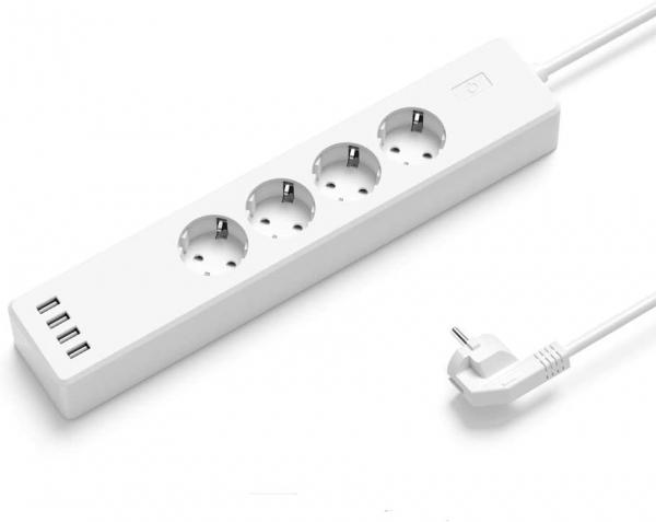 Prelungitor smart WiFi Meross MSS425F, 4 Prize, 4 x USB, Cablu 1.8m, Alexa, Google Assistant 1