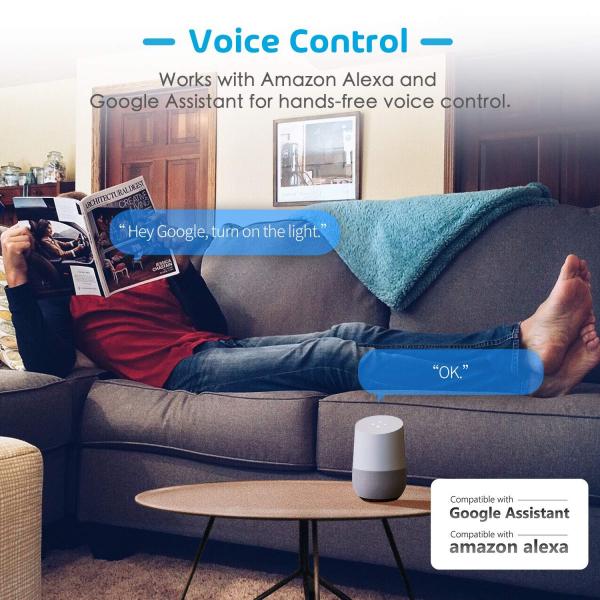 Prelungitor smart WiFi Meross MSS42E, 3 Prize, 4 x USB, Cablu 1.8m, Alexa, Google Assistant 3
