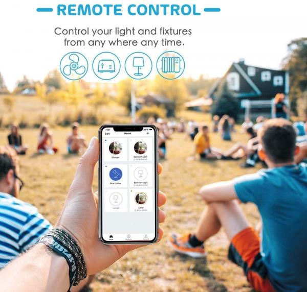Prelungitor smart WiFi Meross MSS42E, 3 Prize, 4 x USB, Cablu 1.8m, Alexa, Google Assistant 6