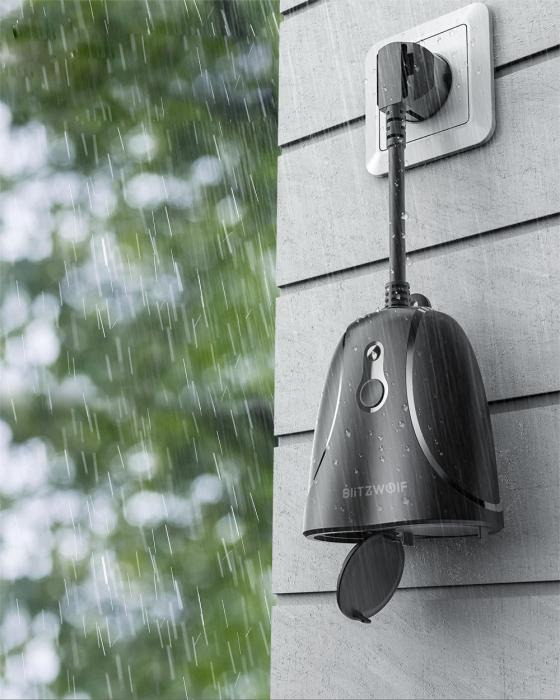 Priza inteligenta pentru exterior BlitzWolf BW-SHP14, IP44, 3680W, Control aplicatie [3]