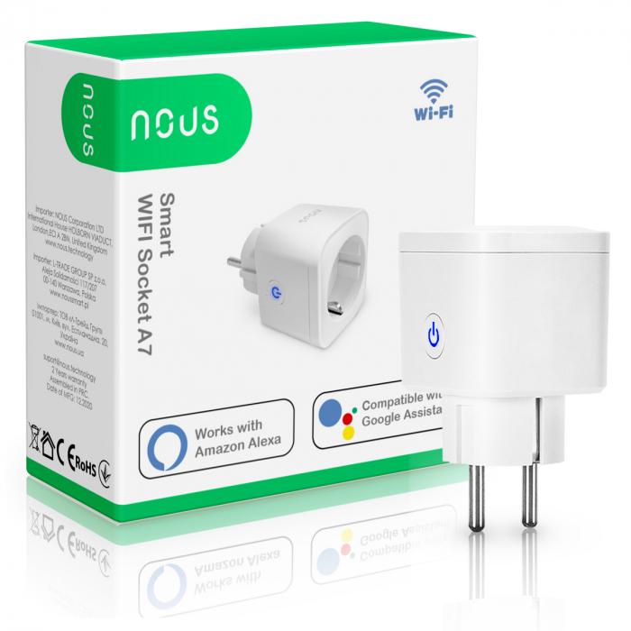 Priza inteligenta WiFi NOUS A7, 16A 3
