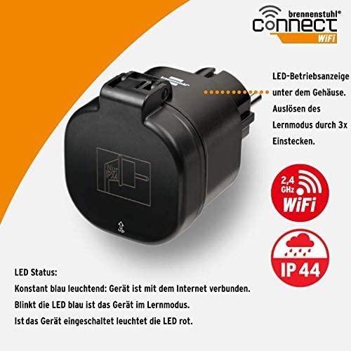 Priza Smart Brennenstuhl Connect WiFi  WA 3000 XS02, IP44, exterior [5]