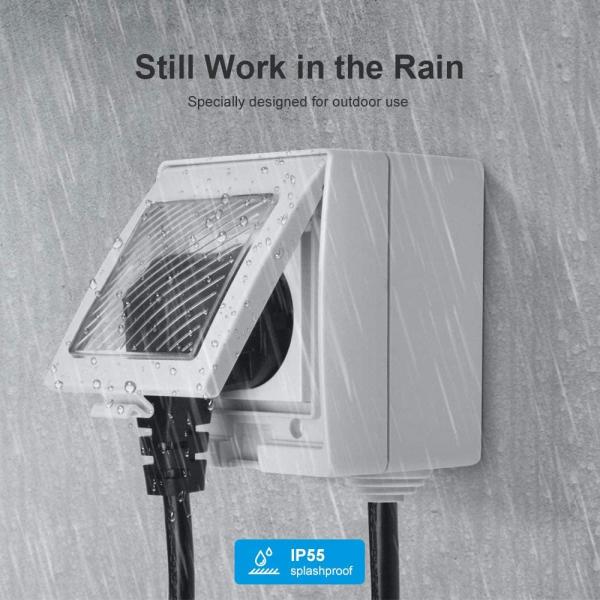 Priza Smart Sonoff S55 pentru exterior rezistenta la apa, Control din Smartphone 2