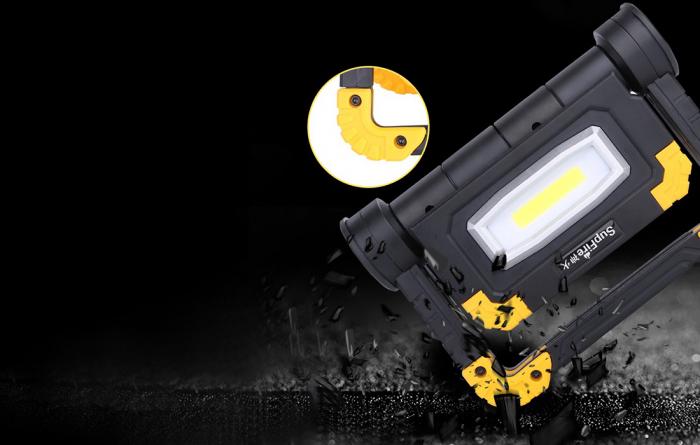 Proiector LED portabil SupFire G7, 20W, 2000lm, reincarcabil, COB, Acumulator 5000mAh [4]