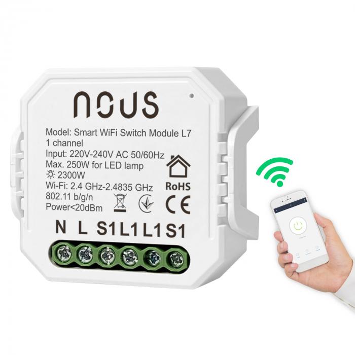 Releu wireless Nous L7, 1 canal, Smart, Control din aplicatie 1