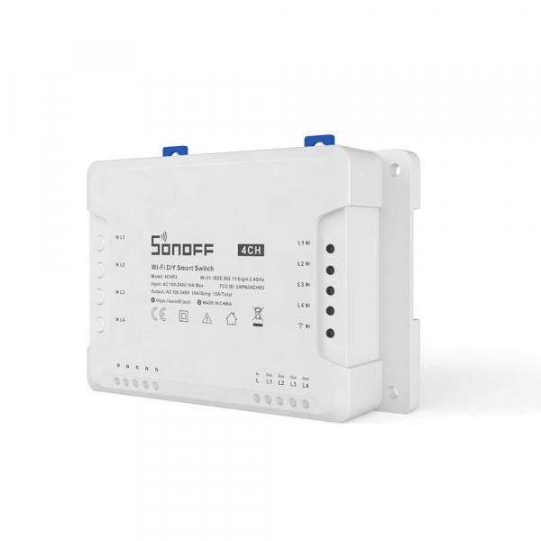 Releu Wireless Sonoff 4CHR3, 4 canale, Alexa / Google Home [0]