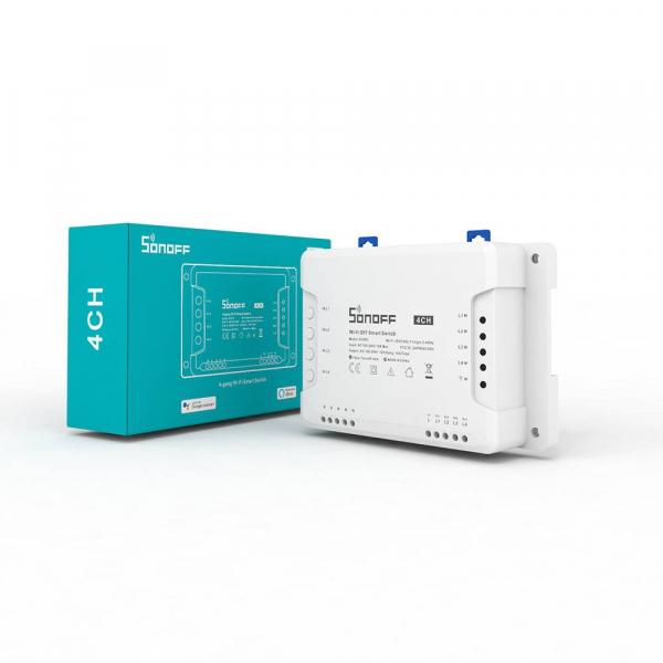Releu Wireless Sonoff 4CHR3, 4 canale, Alexa / Google Home [1]
