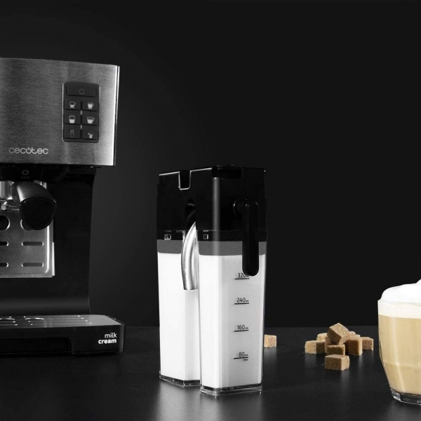 Espressor semi-automat Cecotec Power Instant-ccino 20, 1450 W, 20 bar, 1.4 l, rezervor lapte 400 ml [2]