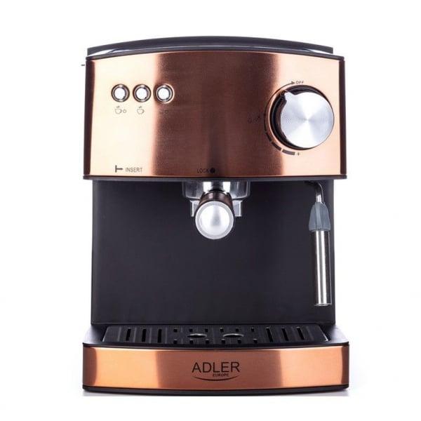 Espressor profesional ADLER AD 4404, 850W, 15 bar, 1.6l, Aramiu [5]
