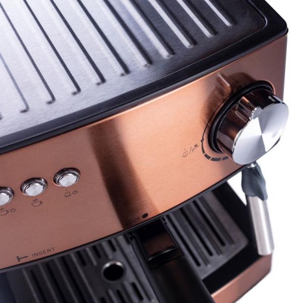 Espressor profesional ADLER AD 4404, 850W, 15 bar, 1.6l, Aramiu [4]