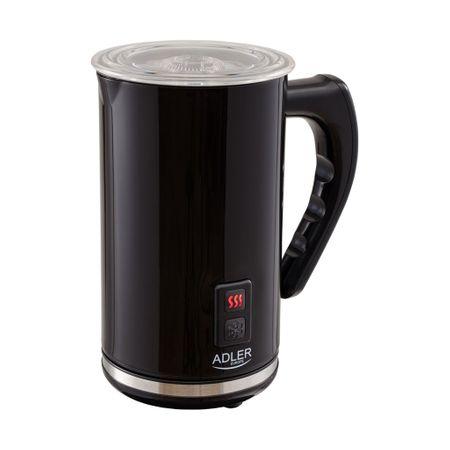 Aparat pentru spumare lapte ADLER AD 4478, 240 ml,500 Wati Functie incalzire lapte, Baza rotativa, Negru 0