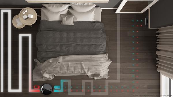 Robot de aspirare Cecotec Conga 3390, 4 in 1, 2300 Pa, Laser, Autonomie 150 minute, Rezervor lichide si praf, Functie mop, 2 perii centrale 8