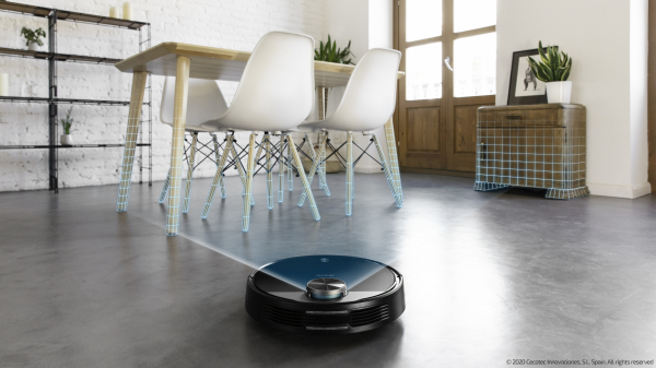 Robot de aspirare Cecotec Conga 3390, 4 in 1, 2300 Pa, Laser, Autonomie 150 minute, Rezervor lichide si praf, Functie mop, 2 perii centrale - Resigilat [6]