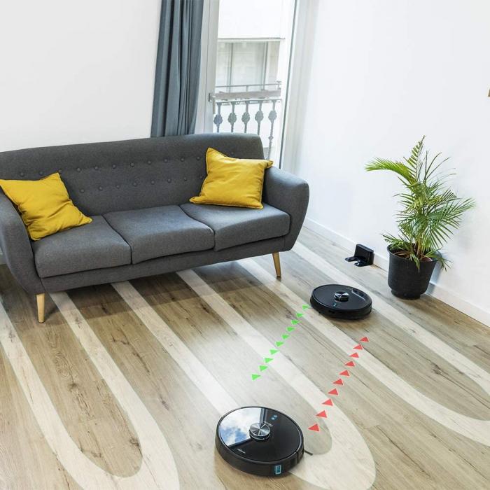 Robot de aspirare Cecotec Conga 6090 Ultra, 4 in 1, 10000 Pa, Laser, Autonomie 240 minute, Rezervor lichide si praf, Functie mop, 3 perii centrale, telecomanda inclusa 7