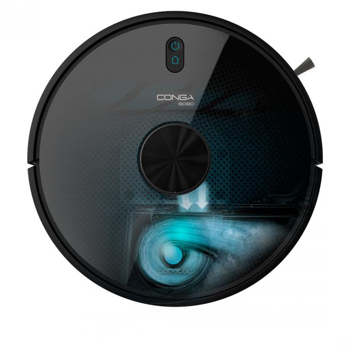 Robot de aspirare Cecotec Conga 6090 Ultra, 4 in 1, 10000 Pa, Laser, Autonomie 240 minute, Rezervor lichide si praf, Functie mop, 3 perii centrale, telecomanda inclusa 2