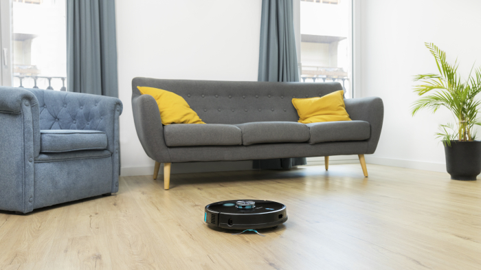 Robot de aspirare Cecotec Conga 6090 Ultra, 4 in 1, 10000 Pa, Laser, Autonomie 240 minute, Rezervor lichide si praf, Functie mop, 3 perii centrale, telecomanda inclusa 1