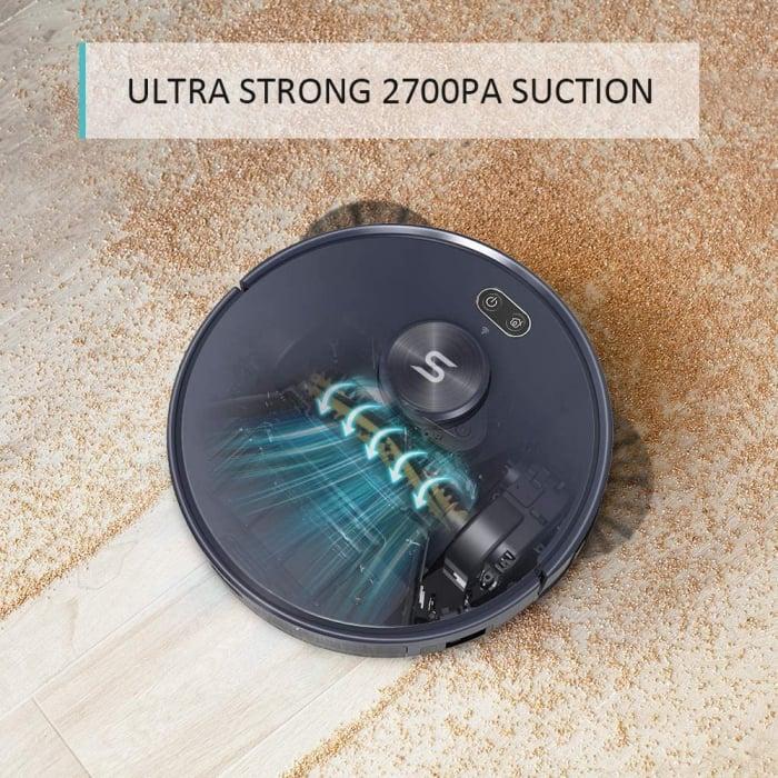 Robot de aspirare Tesvor S6, 2700 Pa, Laser, Autonomie 120 minute, Rezervor lichide si praf, Functie mop [6]