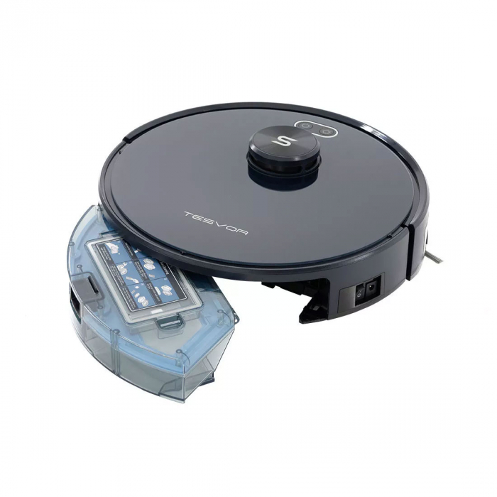 Robot de aspirare Tesvor S6, 2700 Pa, Laser, Autonomie 120 minute, Rezervor lichide si praf, Functie mop [11]
