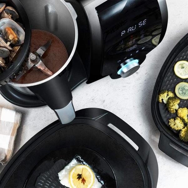 Multicooker multifunctional Cecotec Mambo 9090, 1700W, Capacitate 3.3 Litri, 30 functii pentru gatit, pana la 4 preparate in acelasi timp, accesorii incluse 5