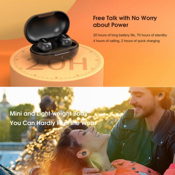 Casti audio In-Ear QCY T9S TW, Bluetooth 5.0,  TWS, True Wireless 9