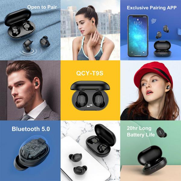 Casti audio In-Ear QCY T9S TW, Bluetooth 5.0,  TWS, True Wireless 6