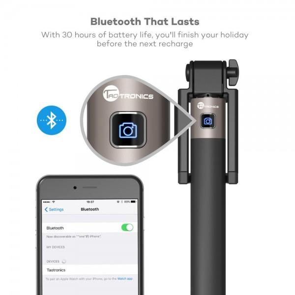 Selfie Stick TaoTronics TT-ST001 cu Bluetooth din aluminiu 4