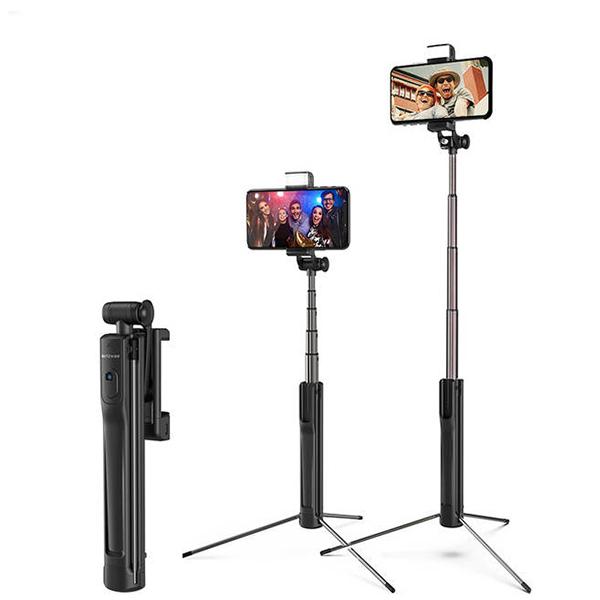 Selfie Stick Tripod BlitzWolf 3 in 1 cu  Lanterna LED si telecomanda detasabila - BW-BS8 [7]
