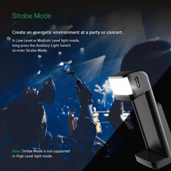 Selfie Stick Tripod BlitzWolf 3 in 1 cu  Lanterna LED si telecomanda detasabila - BW-BS8 [14]