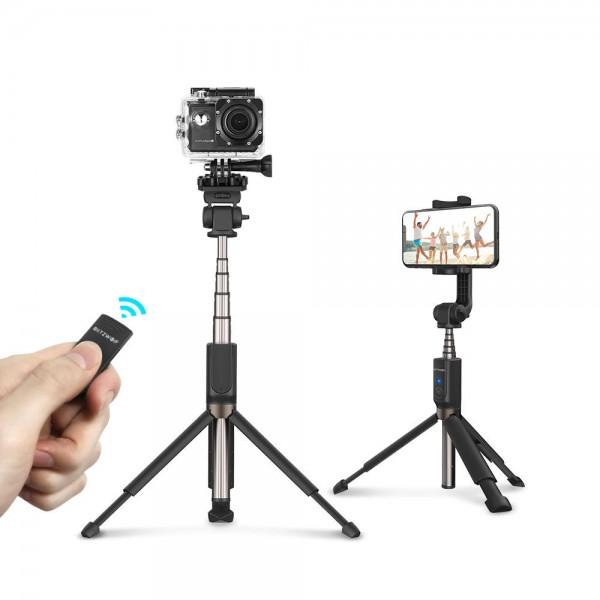 Selfie Stick Tripod BlitzWolf BW-BS5 3 in 1 cu Telecomanda Bluetooth detasabila [0]