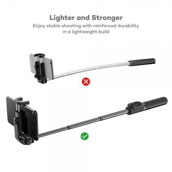 Selfie Stick Tripod VAVA 2 in 1 cu Telecomanda Bluetooth detasabila [3]