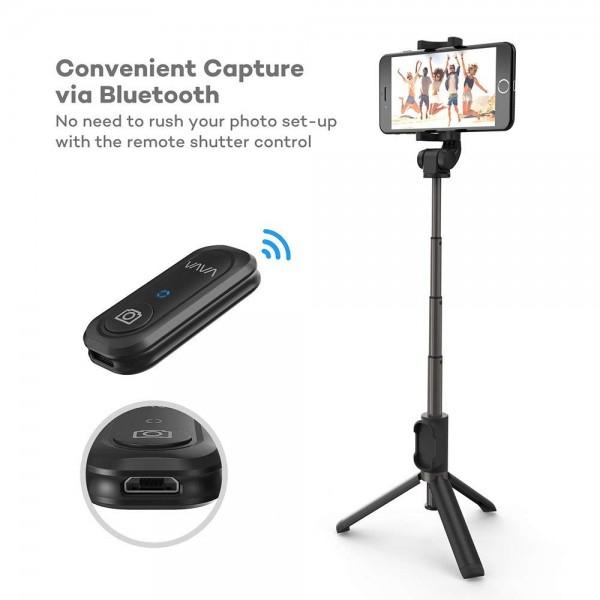 Selfie Stick Tripod VAVA 2 in 1 cu Telecomanda Bluetooth detasabila [6]