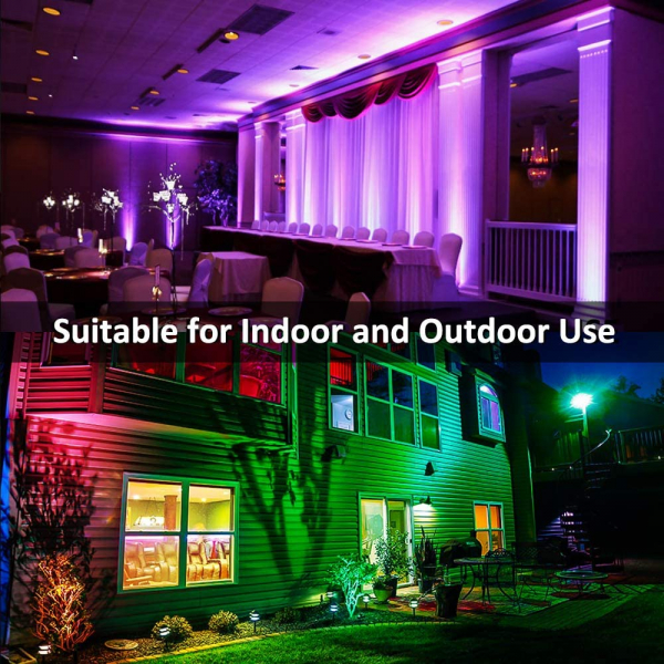 Set 2 proiectoare de podea LED RGB Novostella, Telecomanda , 20W, IP66 waterproof 2