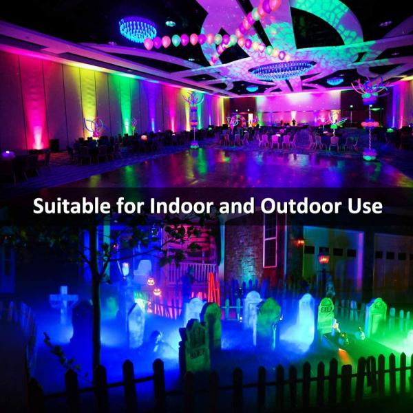 Set 2 proiectoare de podea LED RGB Novostella, Telecomanda , 60W, IP66 waterproof [4]