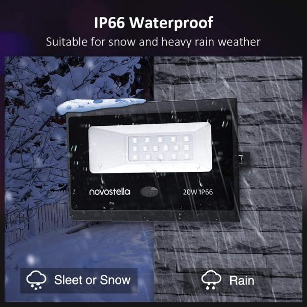 Set 2 proiectoare de podea LED RGB Novostella, Telecomanda , 20W, IP66 waterproof 6