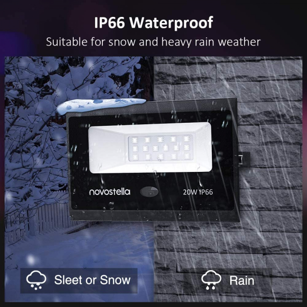 Set 2 proiectoare de podea LED RGB Novostella, Telecomanda , 60W, IP66 waterproof [6]