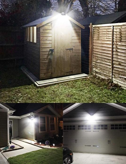 Set 4 lampi solare LITOM LTCD013, LED, 24 leduri, incarcare solara si senzor de miscare [2]