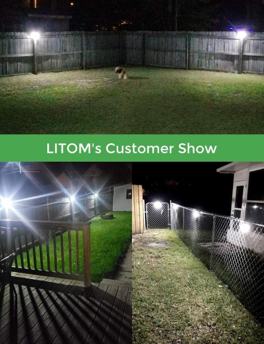 Set 4 lampi solare LITOM LTCD179, LED, 30 leduri, incarcare solara si senzor de miscare [6]
