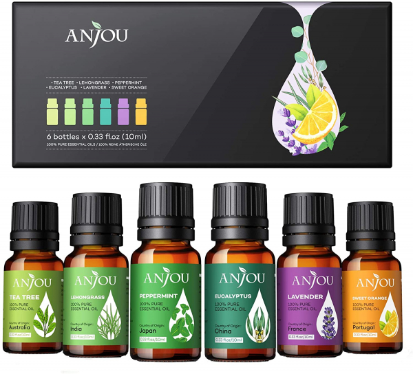 Set 6 uleiuri esentiale Anjou 6x10ml puritate 100% 0