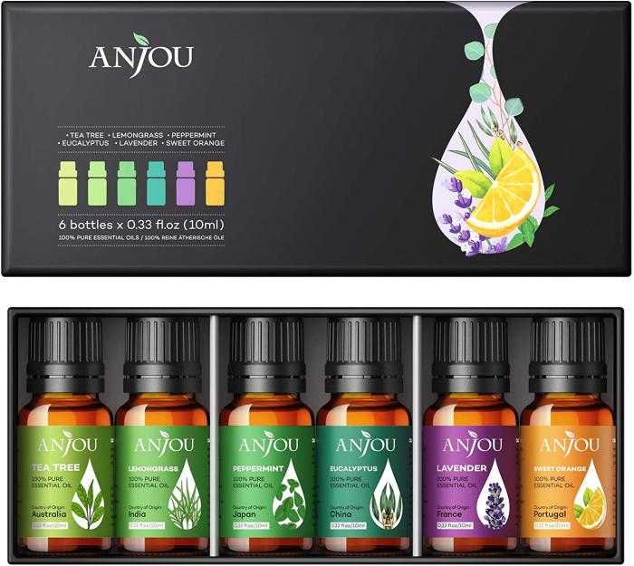 Set 6 uleiuri esentiale Anjou 6x10ml puritate 100% 2