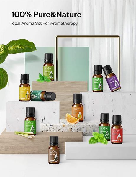 Set Difuzor aromaterapie Anjou AJ-PCN082 cu 8 uleiuri esentiale pure 6