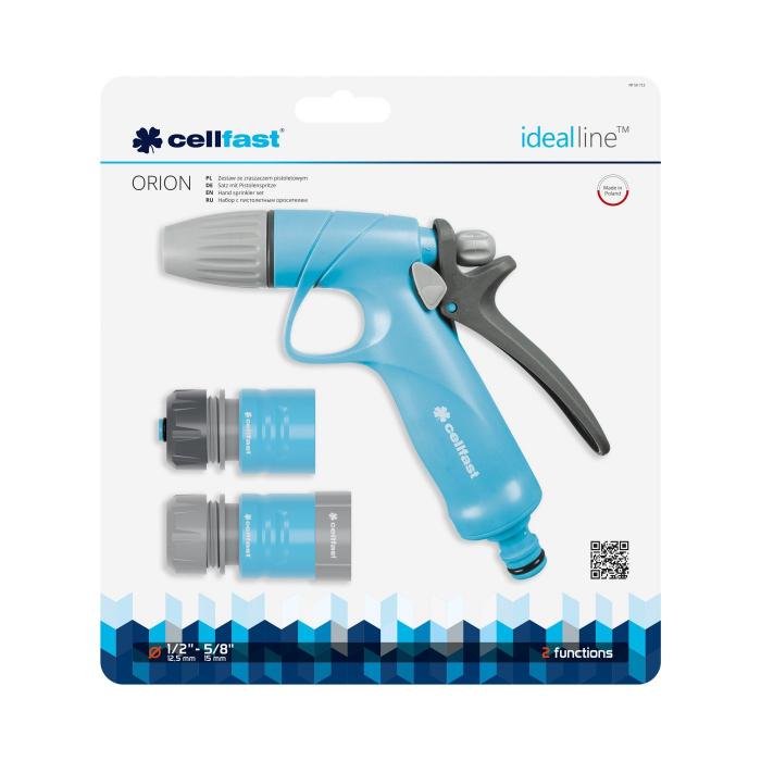 """Set pistol pentru stropit Cellfast IDEAL, conectori 1/2"""" - 5/8"""" 1"""