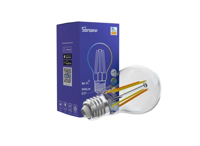 Bec Smart Sonoff cu Filament B02-F-A60, 7W, 806 LM, Dimmer, Control aplicatie [0]