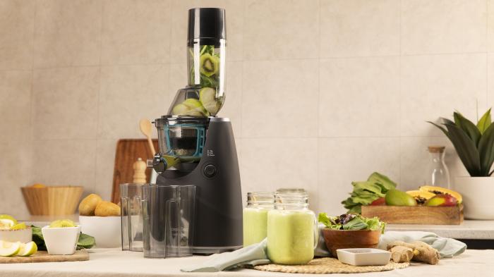 Storcator de fructe si legume cu melc Cecotec Juice&Live 1500 Pro, 250 W, Recipient suc, Recipient pulpa, Functie Reverse, Negru/Inox [4]