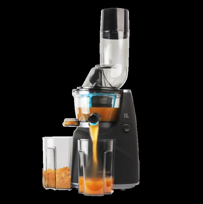 Storcator de fructe si legume cu melc Cecotec Juice&Live 1500 Pro, 250 W, Recipient suc, Recipient pulpa, Functie Reverse, Negru/Inox [0]
