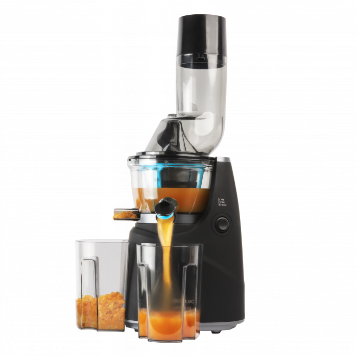 Storcator de fructe si legume cu melc Cecotec Juice&Live 1500 Pro, 250 W, Recipient suc, Recipient pulpa, Functie Reverse, Negru/Inox - Resigilat [0]