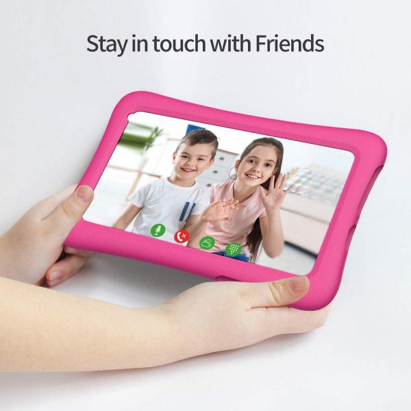 Tableta copii de 7 inch HD Vankyo Z1, Quad-Core Android 8.1 Oreo 1GB, 32GB - Roz - Resigilat [7]