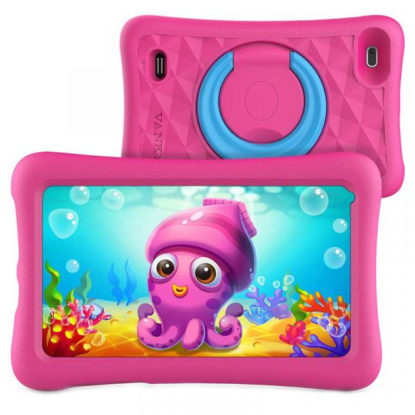 Tableta copii de 7 inch HD Vankyo Z1, Quad-Core Android 8.1 Oreo 1GB, 32GB - Roz 1