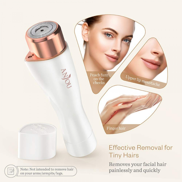 Trimmer facial femei Anjou AJ-PCA014, Lumina LED, pentru mustata, par facial [6]